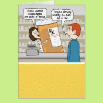 Funny Giant Pills Get Well Card