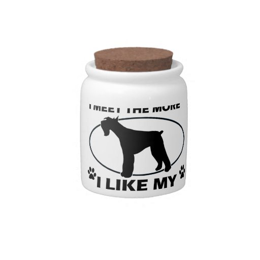 Funny giant schnauzer designs candy dishes