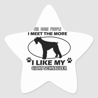 Funny giant schnauzer designs stickers