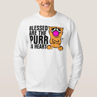 Funny Gibby Cat T-shirts, Blessed R Purr in heart T-Shirt