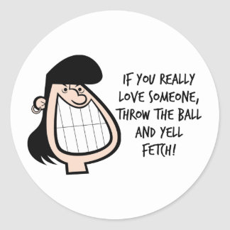 Funny Gift For Her Classic Round Sticker