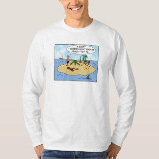 Funny Gift for Woodturner Deserted Island Cartoon T Shirt