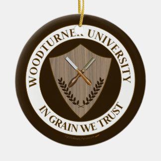 Funny Gift for Woodturner Woodturning University Ceramic Ornament