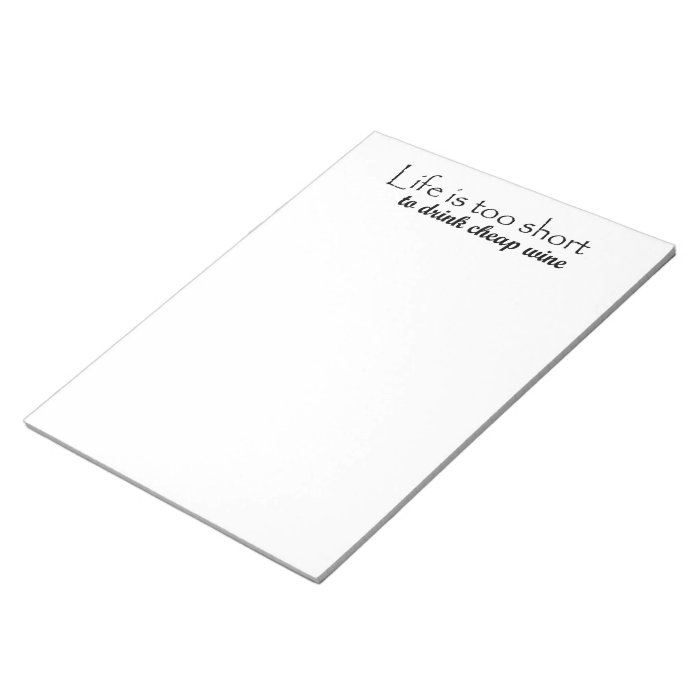 Funny gift ideas gifts wine quote large notepads