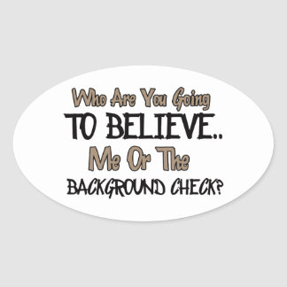 Funny gift items oval sticker