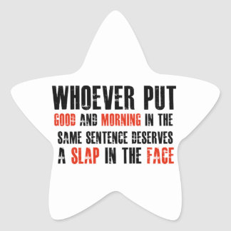 Funny gift items star sticker