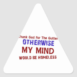 Funny gift items triangle sticker