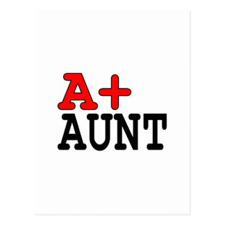 Funny Gifts for Aunts : A+ Aunt Postcard