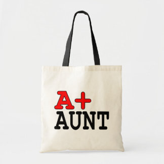 Funny Gifts for Aunts : A+ Aunt Tote Bag