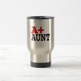 Funny Gifts for Aunts : A+ Aunt Travel Mug