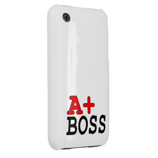 Funny Gifts for Bosses : A+ Boss iPhone 3 Case-Mate Case
