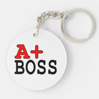 Funny Gifts for Bosses : A+ Boss Acrylic Key Chain