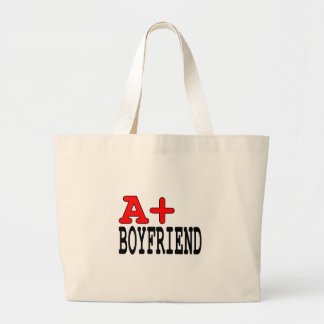 Funny Gifts for Boyfriends : A+ Boyfriend Tote Bag