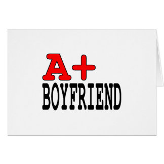 Funny Gifts for Boyfriends : A+ Boyfriend Stationery Note Card