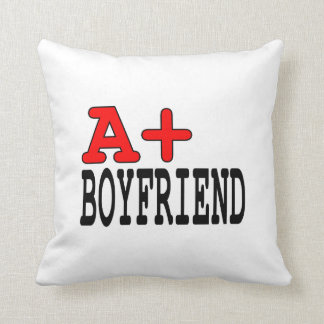 Funny Gifts for Boyfriends : A+ Boyfriend Throw Pillows