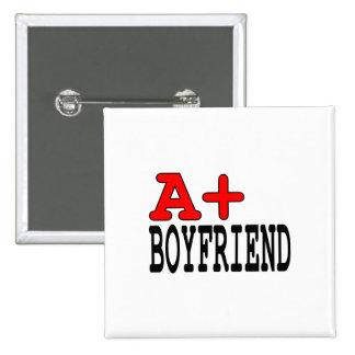 Funny Gifts for Boyfriends : A+ Boyfriend Pinback Button