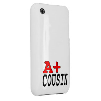 Funny Gifts for Cousins : A+ Cousin iPhone 3 Case-Mate Case
