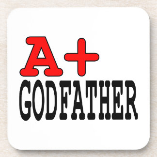 Funny Gifts for Godfathers : A+ Godfather Drink Coaster
