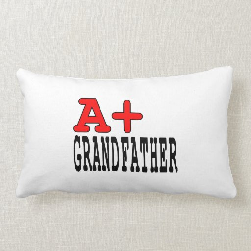 Funny Gifts for Grandfathers : A+ Grandfather Throw Pillows