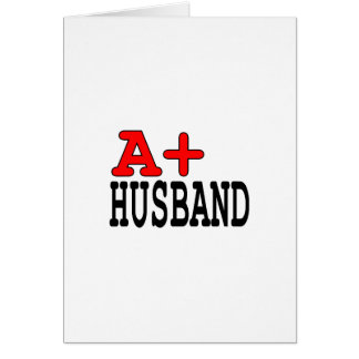 Funny Gifts for Husbands : A+ Husband Card