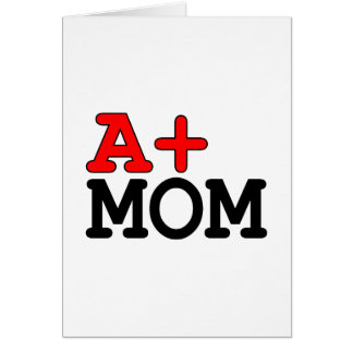 Funny Gifts for Moms : A+ Mom Card