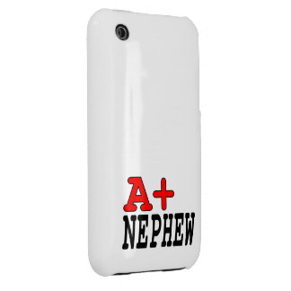 Funny Gifts for Nephews : A+ Nephew iPhone 3 Case-Mate Cases