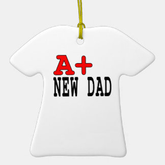 Funny Gifts for New Dads : A+ New Dad Ornaments