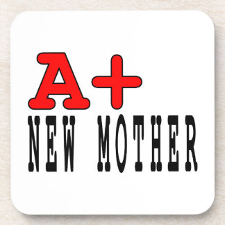 Funny Gifts for New Moms A+ New Mother Coasters