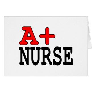 Funny Gifts for Nurses : A+ Nurse Card