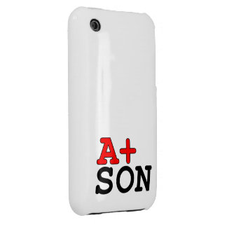 Funny Gifts for Sons : A+ Son iPhone 3 Cover