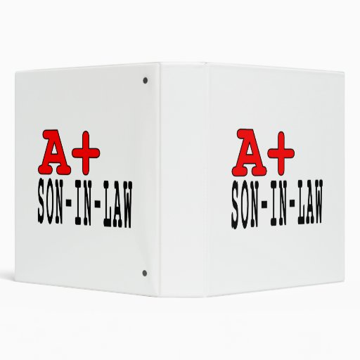 Funny Gifts for Sons in Law : A+ Son in Law Binders
