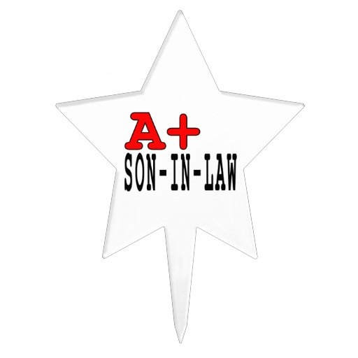 Funny Gifts for Sons in Law : A+ Son in Law Cake Toppers