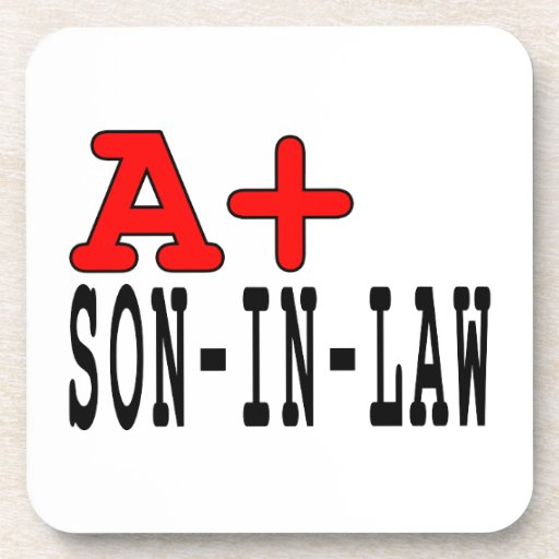 Funny Gifts for Sons in Law : A+ Son in Law Drink Coasters