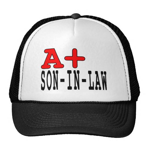 Funny Gifts for Sons in Law : A+ Son in Law Mesh Hats