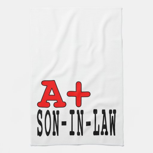 Funny Gifts for Sons in Law : A+ Son in Law Hand Towels