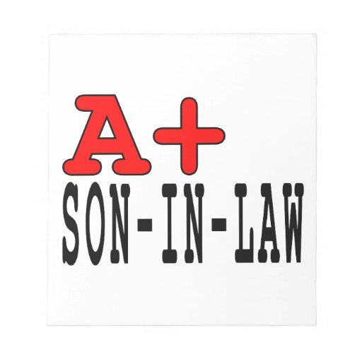 Funny Gifts for Sons in Law : A+ Son in Law Scratch Pad