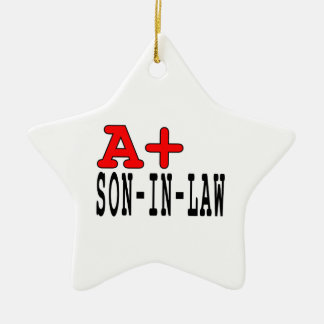 Funny Gifts for Sons in Law : A+ Son in Law Ornaments