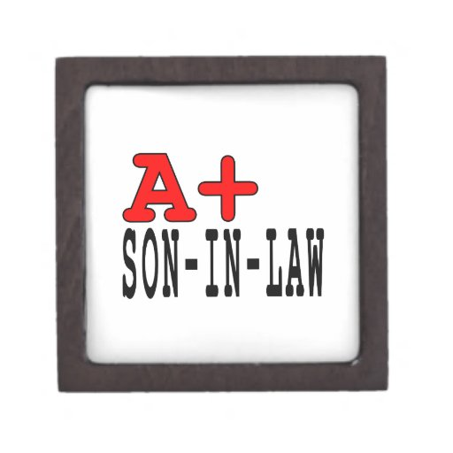 Funny Gifts for Sons in Law : A+ Son in Law Premium Trinket Boxes
