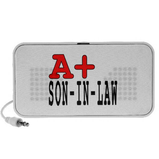 Funny Gifts for Sons in Law : A+ Son in Law iPhone Speakers