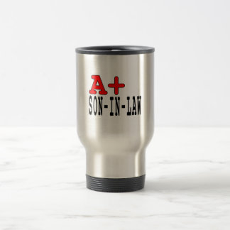 Funny Gifts for Sons in Law : A+ Son in Law Travel Mug