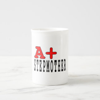 Funny Gifts for Stepmothers A+ Stepmother Bone China Mugs