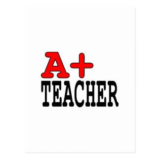 Funny Gifts for Teachers : A+ Teacher Postcard