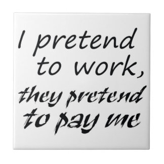Funny gifts office joke gifts unique humor gift small square tile