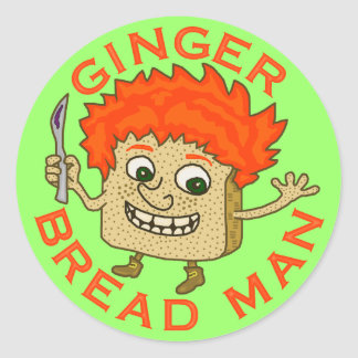 Funny Ginger Bread Man Christmas Pun 2 Classic Round Sticker