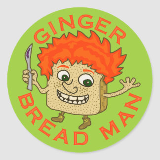 Funny Ginger Bread Man Christmas Pun Classic Round Sticker