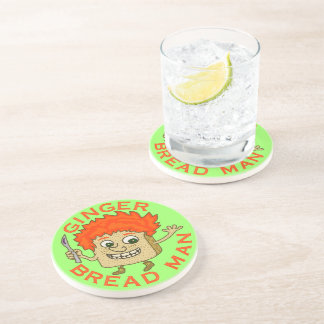Funny Ginger Bread Man Christmas Pun Drink Coasters
