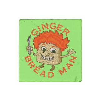 Funny Ginger Bread Man Christmas Pun Stone Magnet