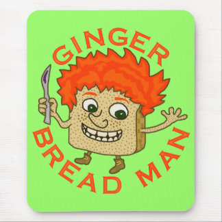 Funny Ginger Bread Man Christmas Pun Mouse Pad