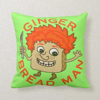 Funny Ginger Bread Man Christmas Pun Throw Pillows