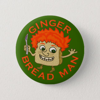 Funny Ginger Bread Man Christmas Pun Pinback Button